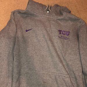 TCU beach volleyball Nike sweatshirt